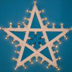 decorazioni per pareti a forma di stella a cinque punte con luci a led