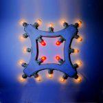 Luminarie e luci natalizie a forma di rombo