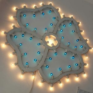 Luminarie pugliesi a forma di fiore, pansè