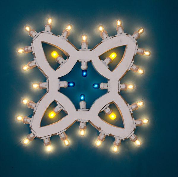 Luminarie salentine motivo arabesco con luci a led o incandescenza.