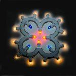 Luminaria a forma di quadrifoglio porta fortuna